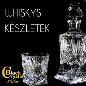 Black Crystal whiskys készlet Ajkáról