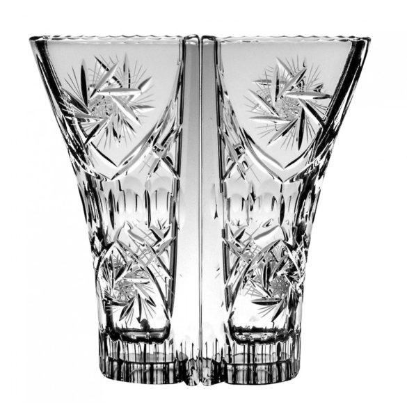 Victoria * Ólomkristály Love váza 22 cm (Dupla16114)