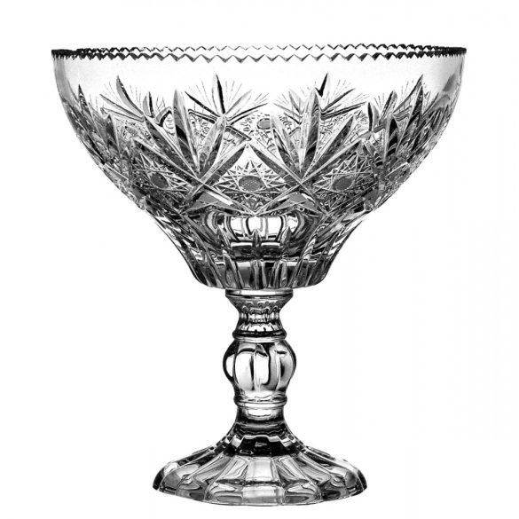 Laura * Ólomkristály Gyümölcsös tál talppal 21,7 cm (16317)