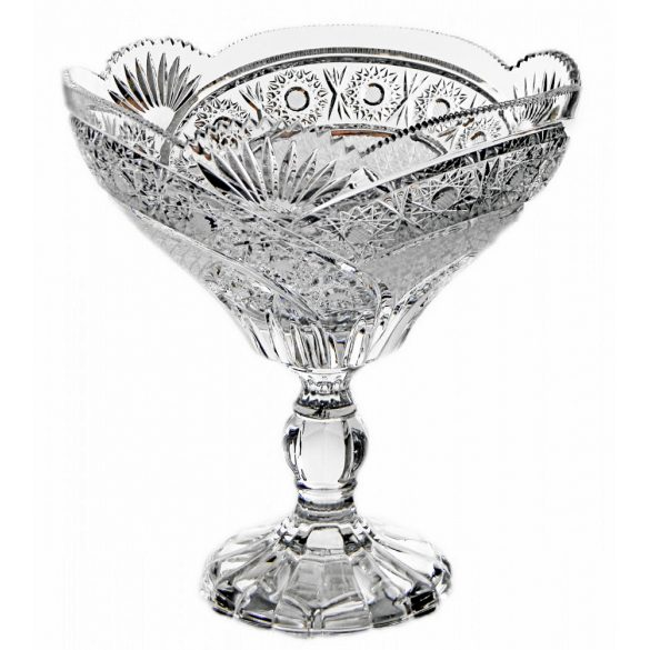 Other Goods * Ólomkristály Gyümölcsös tál talppal 21,7 cm (16425)