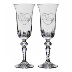 Other Goods * Ólomkristály Romantikus pezsgős pohár készlet 2 db (LSZI16431)