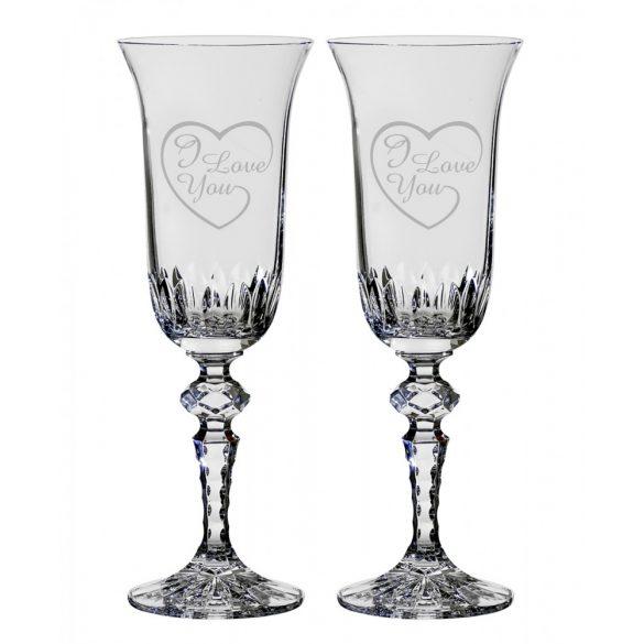 Other Goods * Ólomkristály Romantikus pezsgős pohár készlet 2 db (LSZI16432)