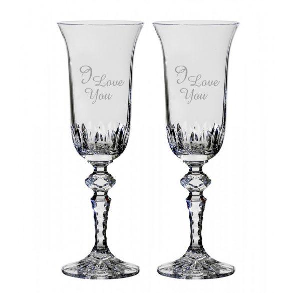 Other Goods * Ólomkristály Romantikus pezsgős pohár készlet 2 db (LSZO16433)