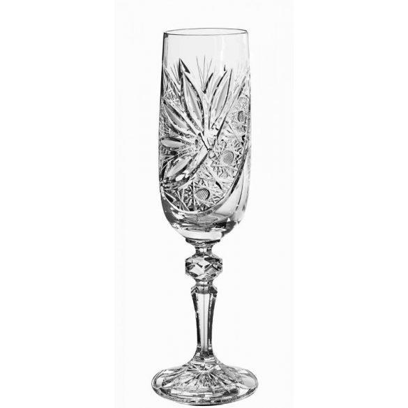 Liliom * Kristály Pezsgős pohár 180 ml (M17597)