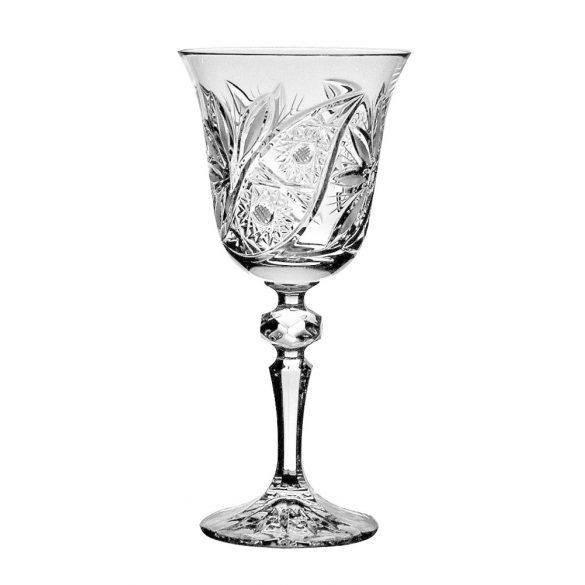 Liliom * Kristály Nagy boros pohár 220 ml (L17605)