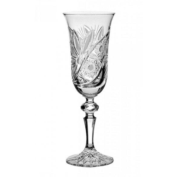 Liliom * Kristály Pezsgős pohár 150 ml (L17607)