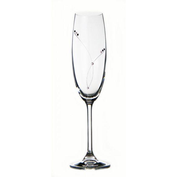 Pearl * Kristály Pezsgős pohár 220 ml (GasGD17857)