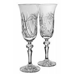 Victoria * Kristály Pezsgős kristály készlet esküvőre (2 db) (LGyű18098)