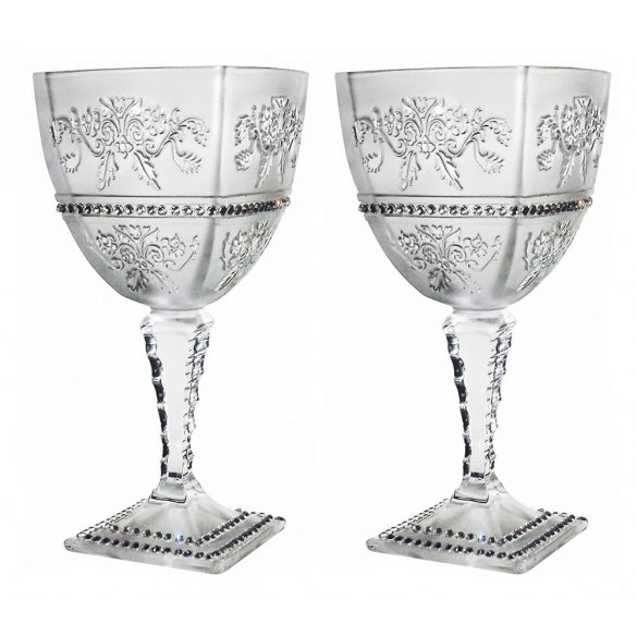 Royal * Kristály Nagy boros pohár készlet 2 db (Ar18924)