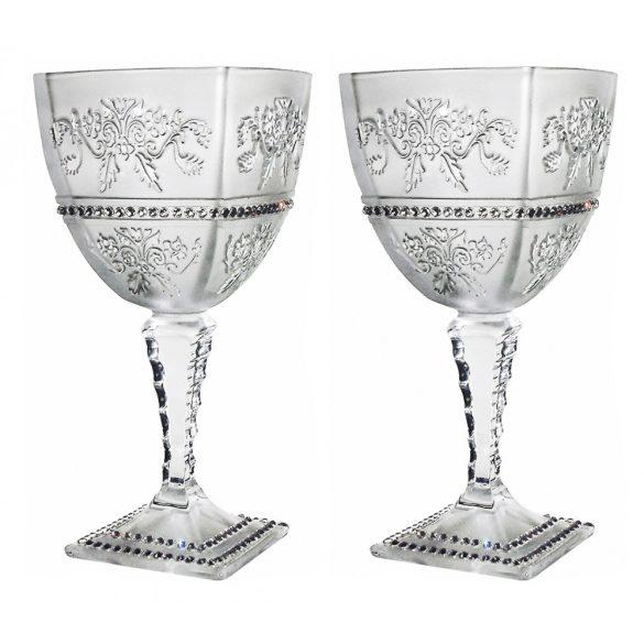 Royal * Kristály Nagy boros pohár készlet 2 db (Ar18925)