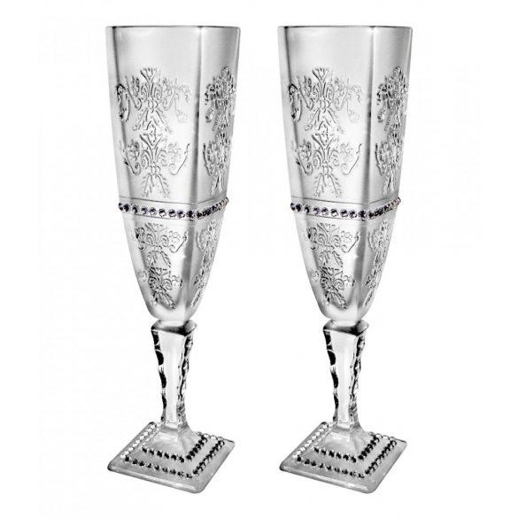 Royal * Kristály Pezsgős pohár készlet 2 db (Ar18927)