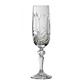 Kristály pezsgős pohár