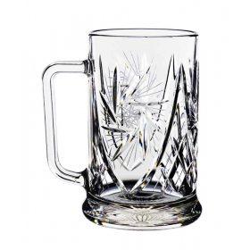 Kristály sörös pohár, korsó